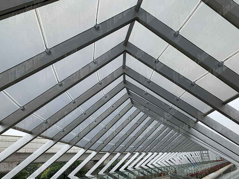 Three Pavilions and One CityETFE Corridor Membrane Structure Project in Shenzhen Longgang Completed