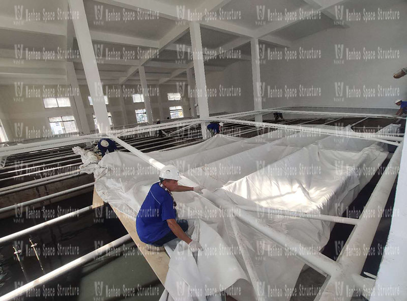 The indoor steel membrane structure project of the wastewater station of Zhejiang Xianju Pharmaceutical Co., Ltd. was completed