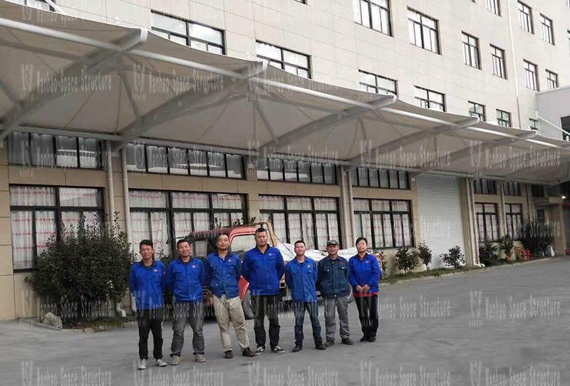 Ningbo Zhongtian home canopy project completed