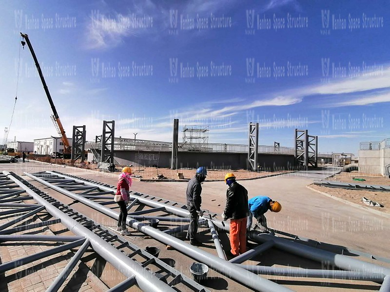 Insulation membrane structure project of sewage pond of industrial sewage plant in Kunlun Industrial Zone of Golmud Industrial Park
