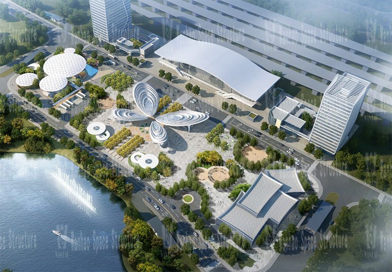 The 19th bid of Wanhao 2020-Shanghai-Tong Railway Zhangjiagang Station Local Supporting Project, the butterfly-shaped sky curtain project of the passenger distribution area on the west side of the station front