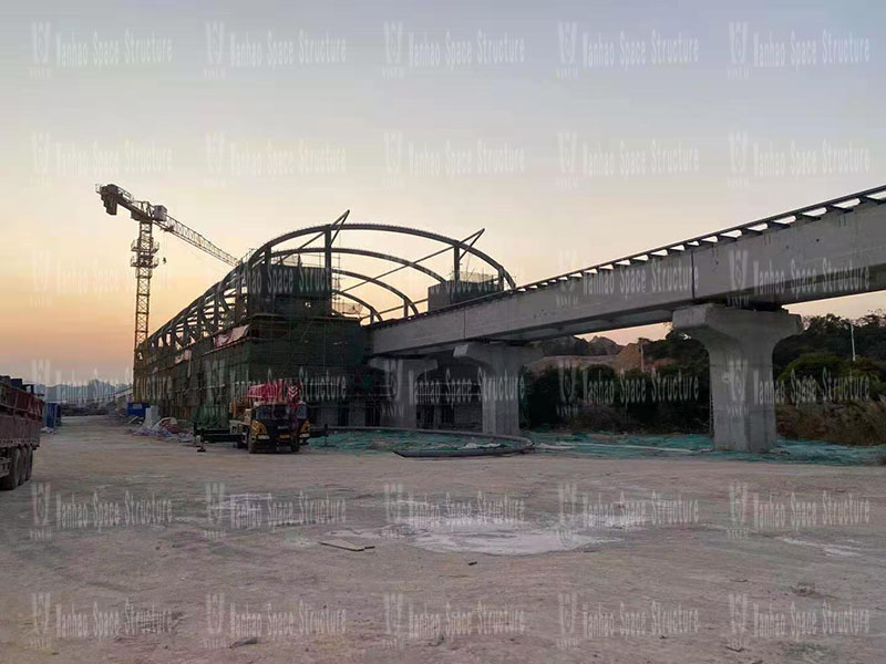 Qingyuan Maglev Project Lianhu Station Steel Membrane Structure Project
