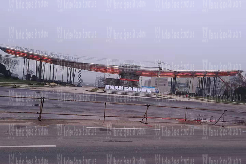 The Landscape Membrane Structure Project of Sichuan Nanjiao Photographic College is nearing completion