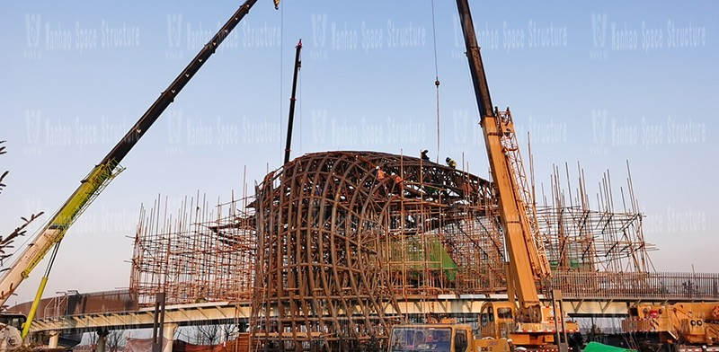 Weihai Economic and Trade Exchange Center Special-shaped Steel Structure Project