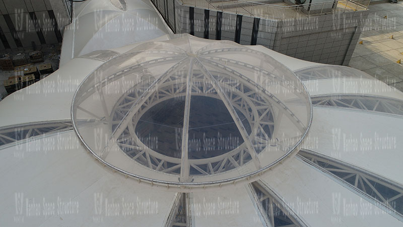 Xintai Excellence·Fortune Plaza membrane structure project completed