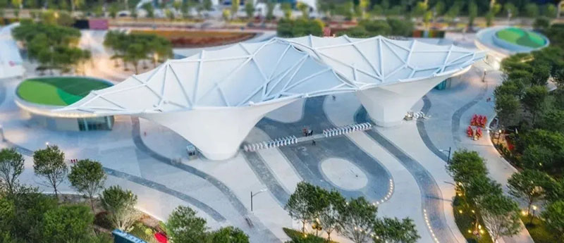 【Case Appreciation】The main entrance membrane structure of Shanghai Flower Expo