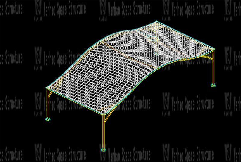 Wanhao 2021 No. 8 Standard-Yueqing Tieding Yo Park ETFE Canopy and PTFE Landscape Umbrella Structure Project
