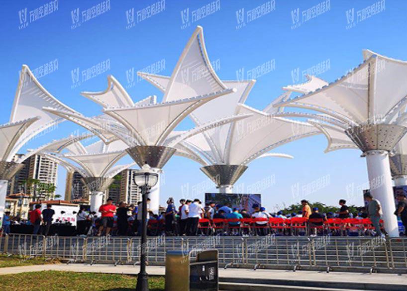 Dongguang Dongjiangxian PTFE Mesh Coating Tensile Membrane Structure Project