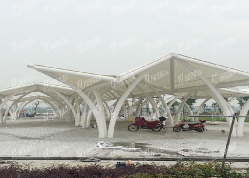 Haining Longdu Lake Landscape Shade Membrane Structure Project