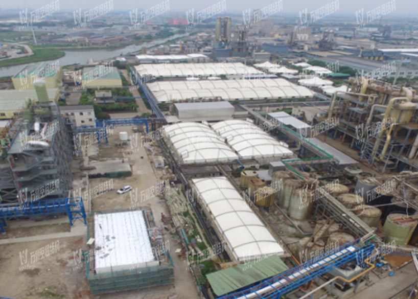 Shangyu Taisheng Chemical Sewage Pool Canopy Membrane Structure Project