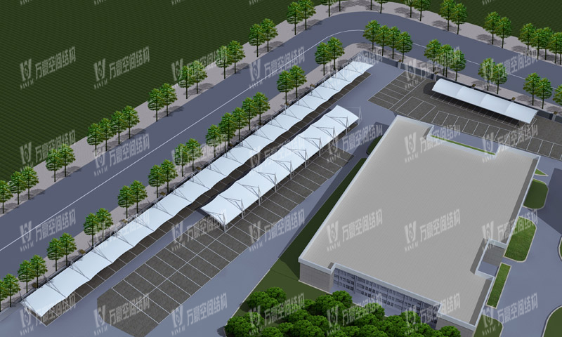 Wanhao 2019 bid 15-Ningbo Wangchun prison non motor vehicle membrane structure parking shed and office area gate gate project