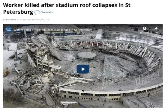 St. Petersburg stadium collapsed when it was demolished