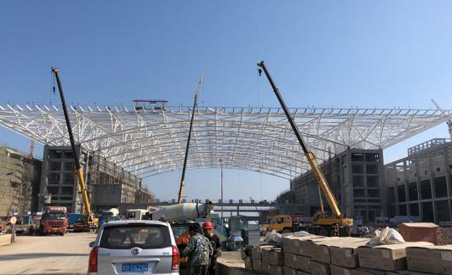 Hongdao International Conference Center Profiled Steel Structure Project