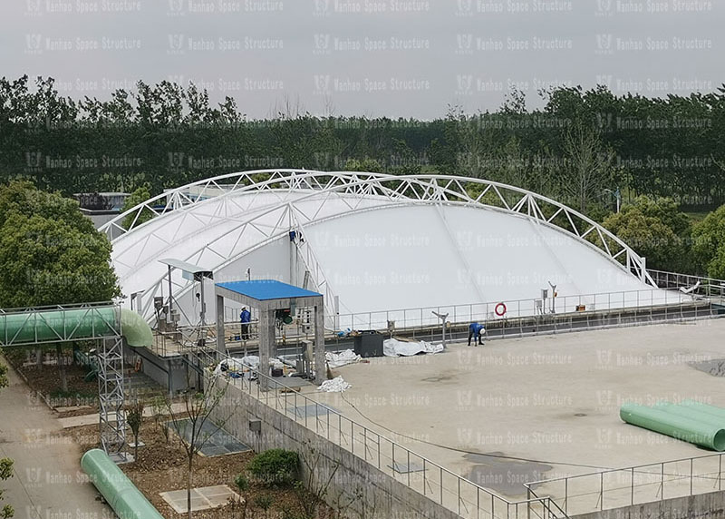 Membrane structure of sewage pool in Huai'an new material industry park