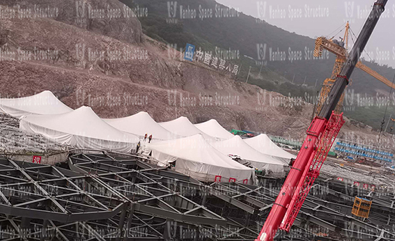 Nanjing Yuanbo Garden dome membrane structure shed project