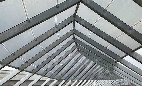 Membrane structure of ETFE connecting corridor in three halls and one city of Longgang, Shenzhen