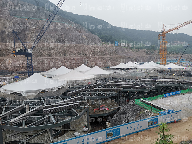 Nanjing Garden Expo Park Dome Membrane Structure Shed Project