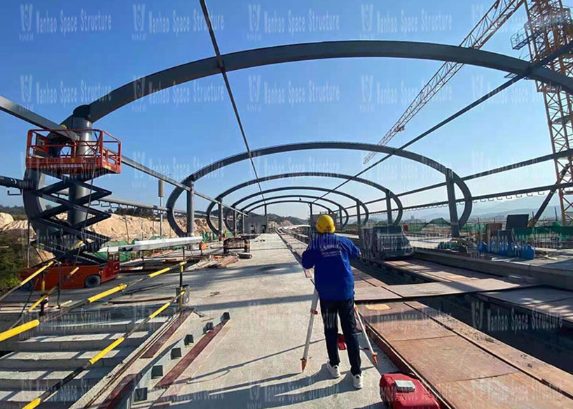 Special-shaped steel structure project of Lianhu Station of Qingyuan Maglev Project