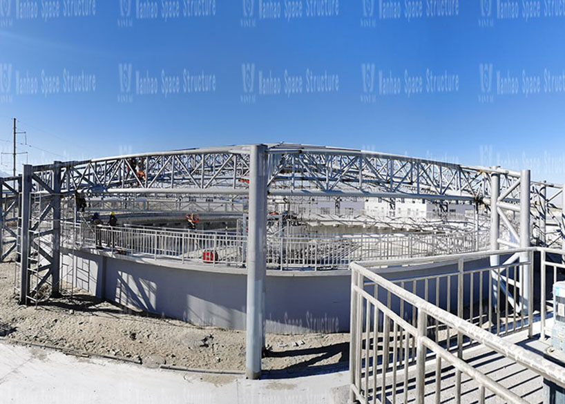 Special-shaped steel structure project of sewage pond in Golmud Industrial Park