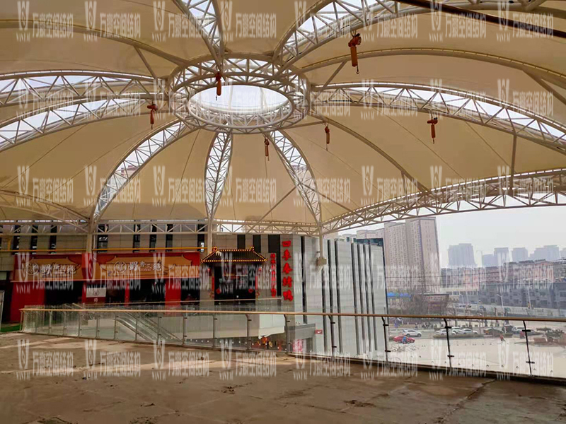 The Membrane Structure Project of Xintai Excellence·Fortune Plaza is coming to an end