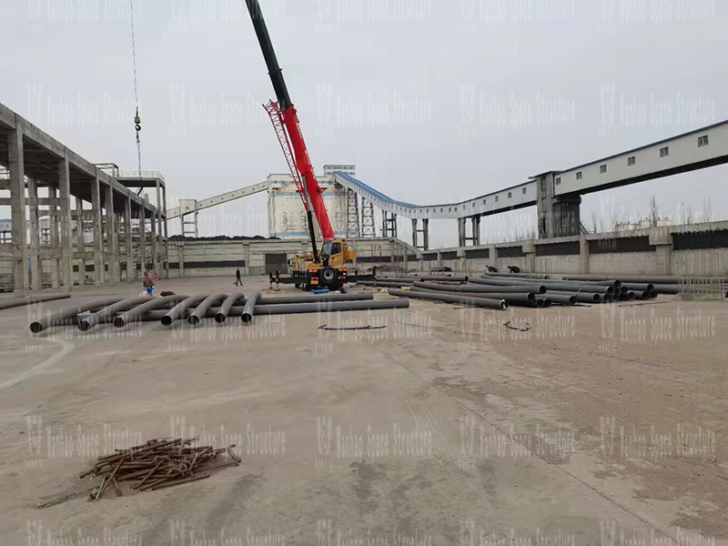 Inner Mongolia Energy Great Wall Mining Coal Preparation Plant's steel frame membrane shed construction project started