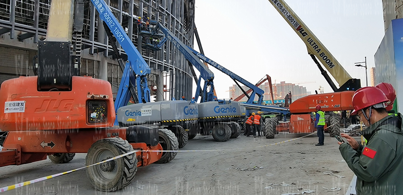 Shaoxing International Convention and Exhibition Center Phase I B area Conference Center PTFE membrane structure project Hot assembling and hoisting