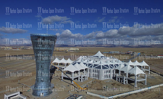 Qinghai Chaka Salt Lake Sky Distribution Center Steel and Membrane Structure Project