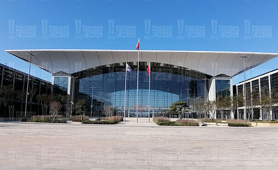 Qingdao Hongdao International Exhibition Center Facade Membrane Structure Project