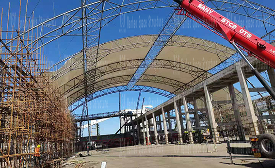 Steel Frame Membrane Shed Construction Project of Inner Mongolia Energy Great Wall Coal Preparation Plant