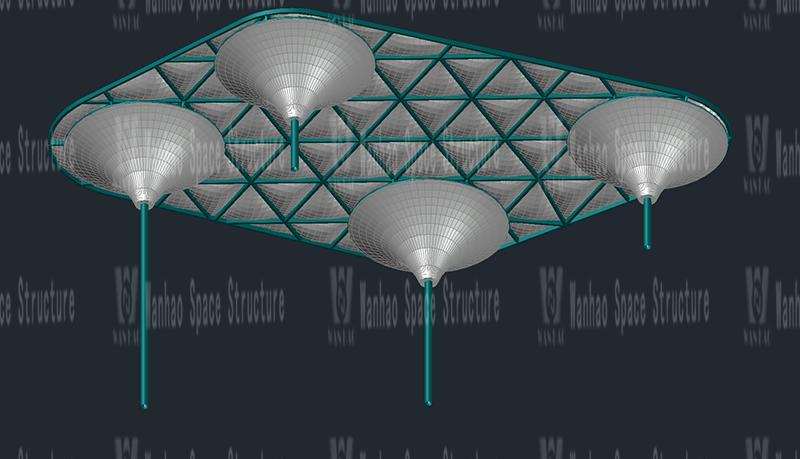 Wanhaot's 2021 seventh bid-Taizhou Dabanqiao ETFE air pillow canopy project