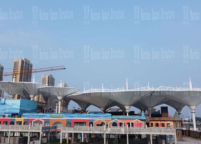 liaocheng Wanda Town Colorful Cloud Cable Membrane Structure Project