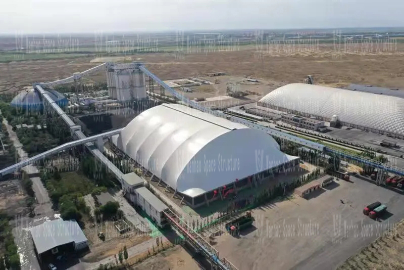 Inner Mongolia Energy Changcheng No.5 coal preparation plant steel framework membrane shed construction project completed