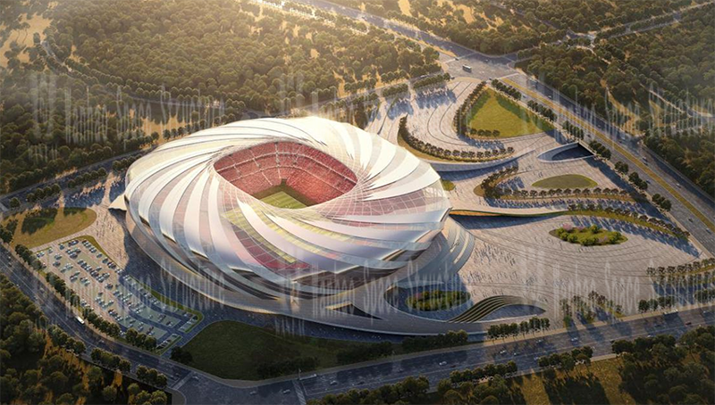 Wanhao 2021 tenth bid -2023 Asian Cup venue Chongqing Longxing football field project ETFE house mask structure project