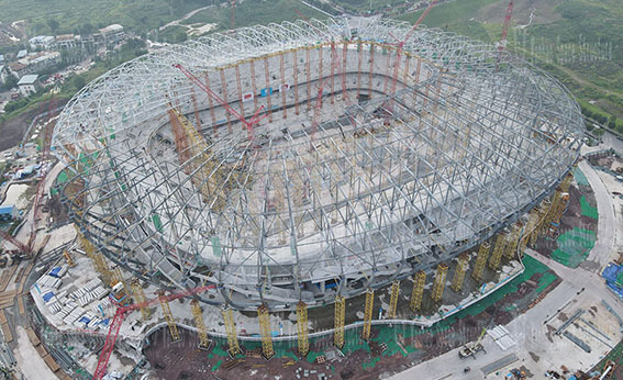 ETFE Roof Membrane Structure Project of Chongqing Longxing Football Stadium Project, the host venue of the 2023 Asian Cup