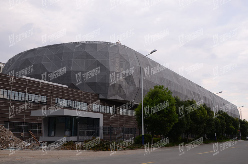 Phase Motor Exhibition Hall Mesh Facade Membrane Structure Project