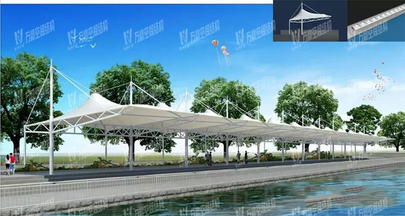 Dragon Boat Plaza Competition Stand Membrane Structure Project